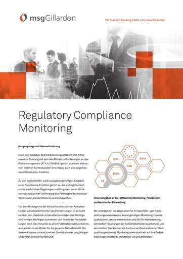 Regulatory Compliance Monitoring