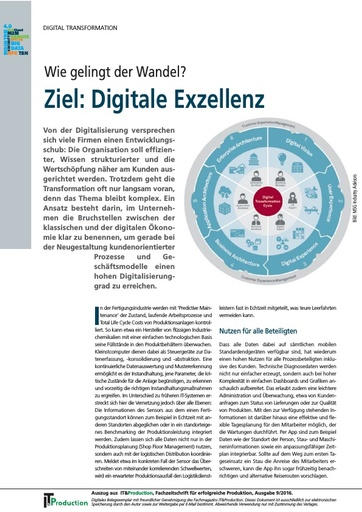 Beitrag in IT & Production: Digitale Excellenz – wie gelingt der Wandel?