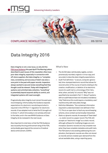 Ausgabe 05-2016: Data Integrity 2016