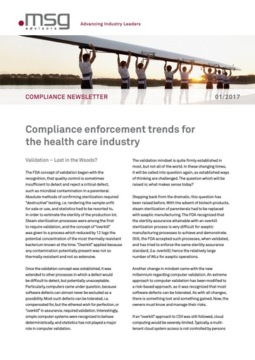 Ausgabe 01-2017: Compliance enforcement trends for the health care industry