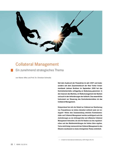 Collateral Management - Ein zunehmend strategisches Thema