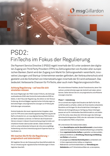 Payments PSD2 Compliance-Beratung
