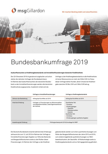 Bundesbankumfrage 2019