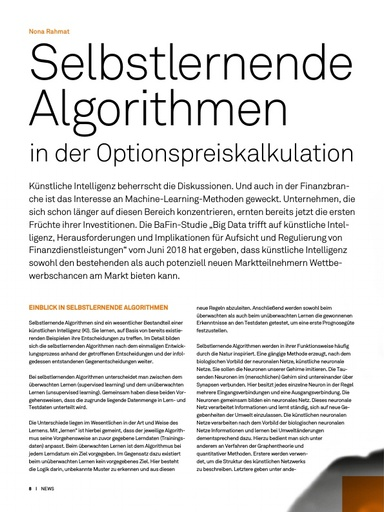 Selbstlernende Algorithmen in der Optionspreiskalkulation