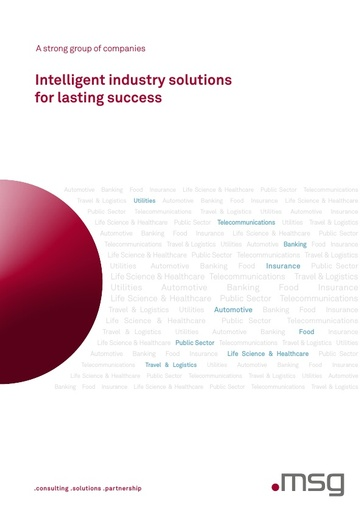 Company brochure: Intelligent industry solutions for lasting success