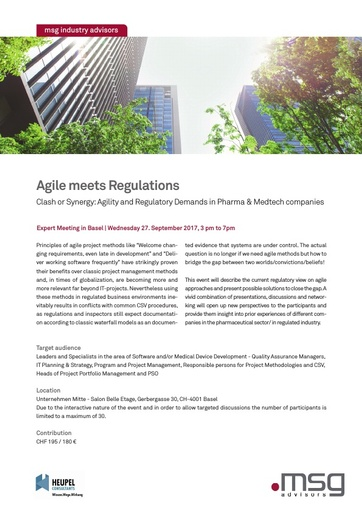Agile Meets Regulations