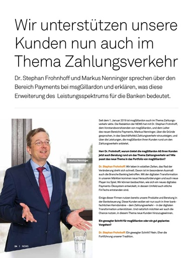 Interview zum neuen Themengebiet Payments