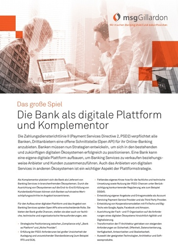 Payments Digitale Plattform