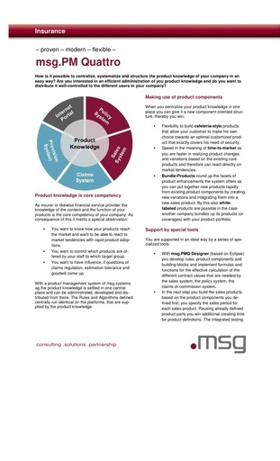 Product Management: msg.PM Quattro