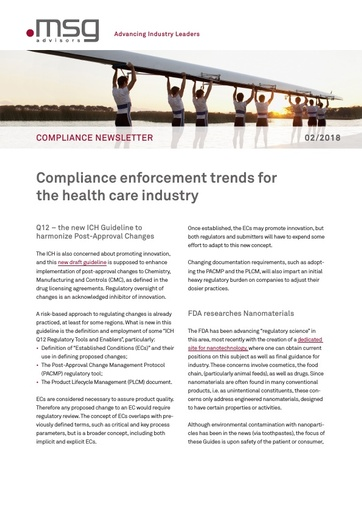 Ausgabe 02-2018: Compliance enforcement trends for the health care industry