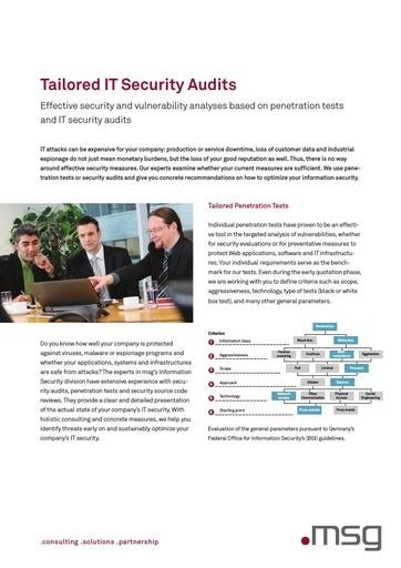 Tailored IT Security Audits