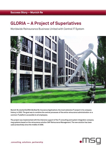 Munich Re: GLORIA – A Project of Superlatives